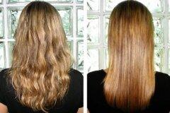 Применение процедуры на волосах