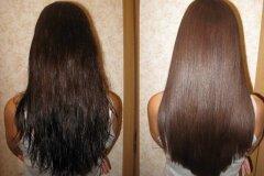 Результат применения на волосах