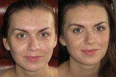 Результат нанесения макияжа