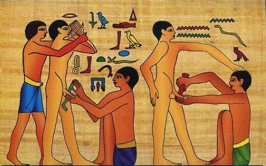 на фото обряд обрезания в Египте