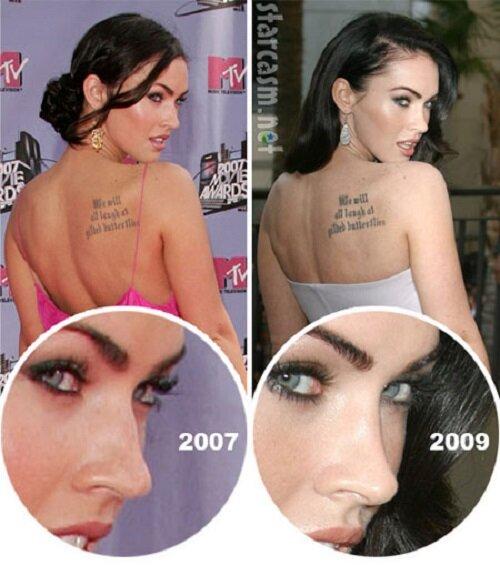 Фото Меган Фокс до и после