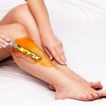 депиляция ног воском
