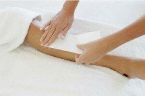 Восковые полоски для депиляции на ногах
