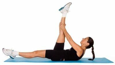 упражнения лежа