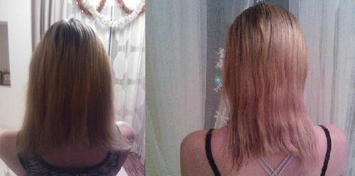 фото до и после солевого пилинга волос