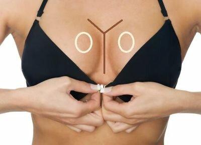 увеличения груди макияжем