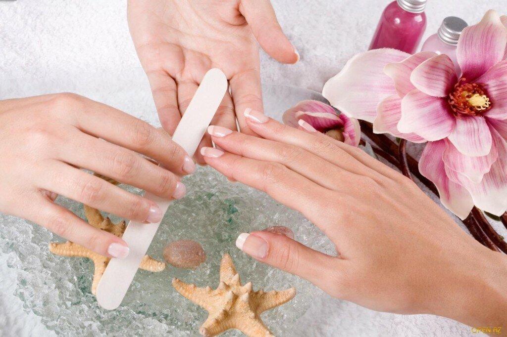обработка ногтей и парафинотерапия