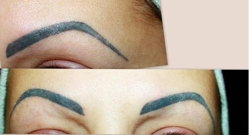 необычный цвет бровей после татуажа