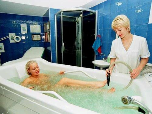 спа процедура в ванне