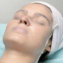 Парафиновая маска на лице